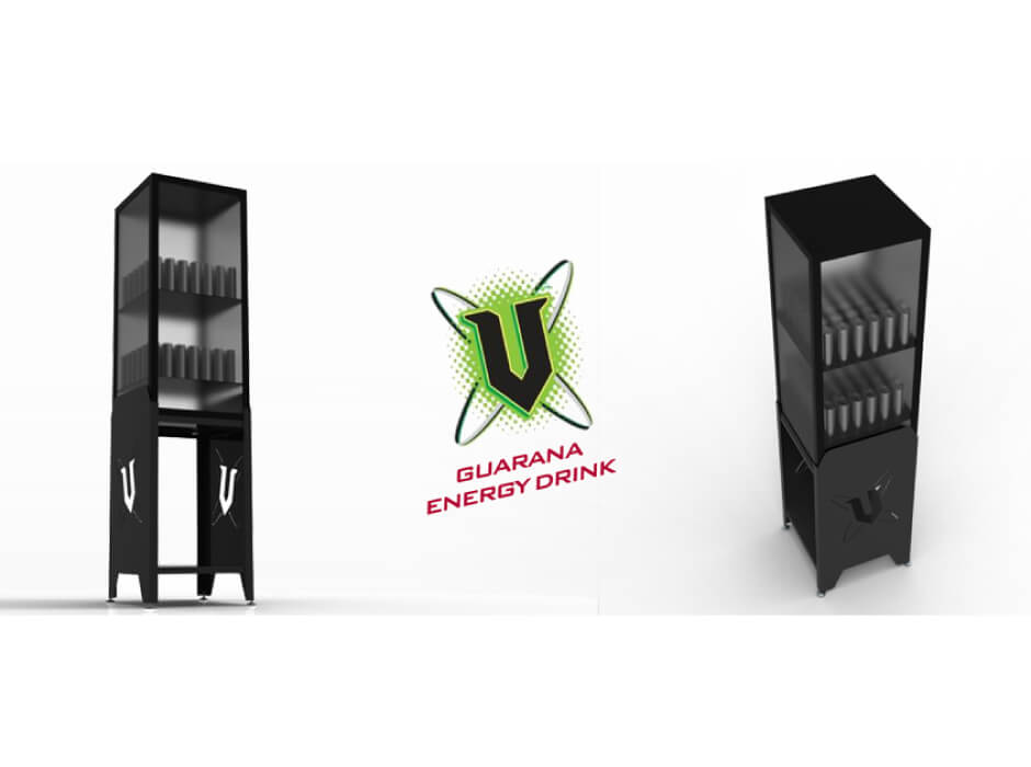 V Energy Drink Display Stand
