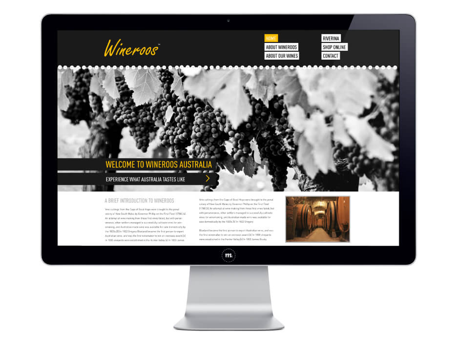 Wineroos Website Design
