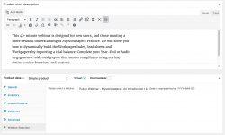 webinar product interface using woocommerce