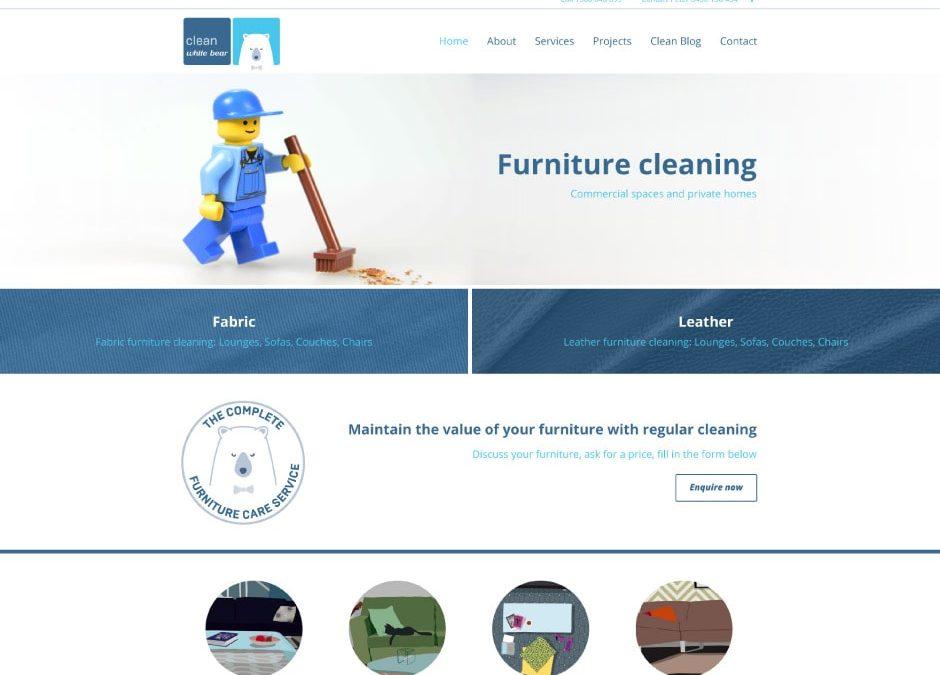 Clean White Bear Website