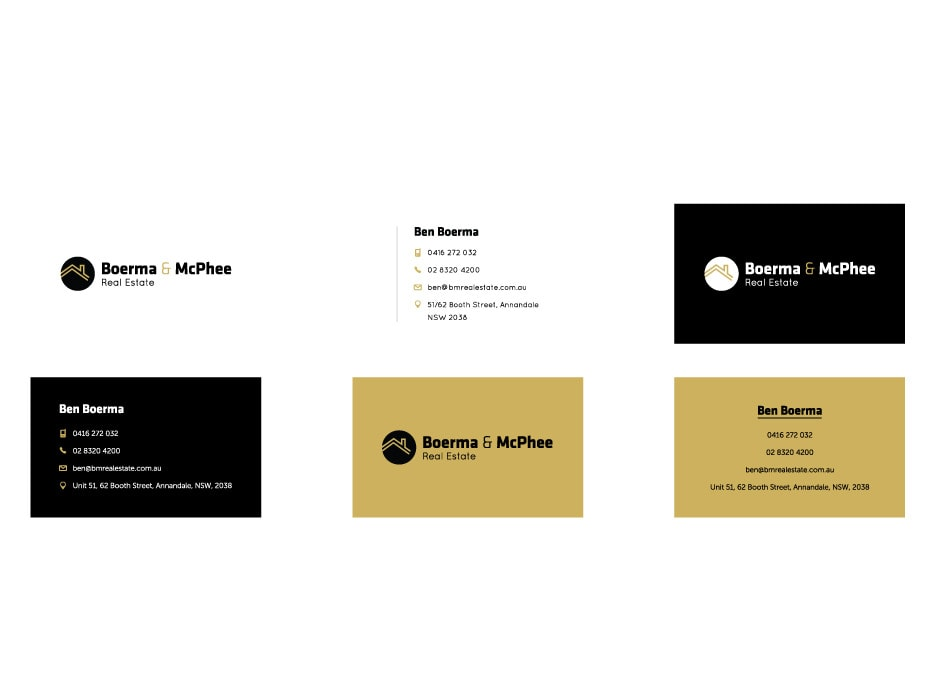 Boerma and McPhee Real Estate Business Cards