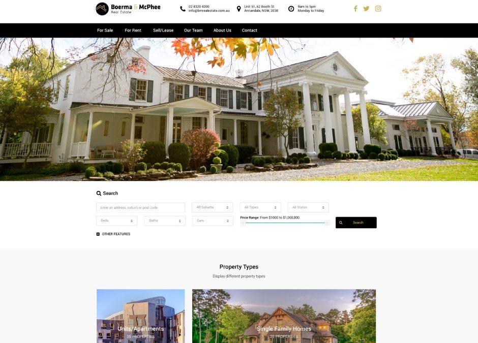 Boerma and McPhee Real Estate Website