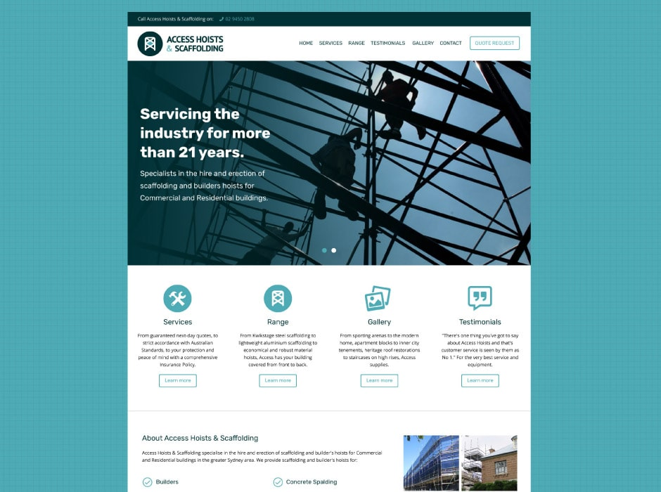 Access Hoists and Scaffolding Website