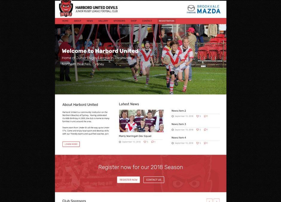 Harbord United Junior Rugby League Club Website