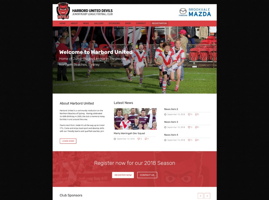 Harbord United Junior Rugby League Club Website