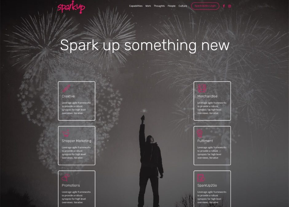 SparkUp Website