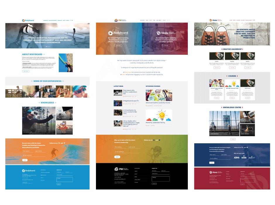 Bodyboard, Paul Whybrow and Varda Websites