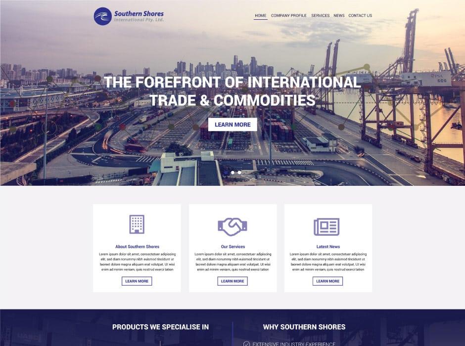 Southern Shores Website Design