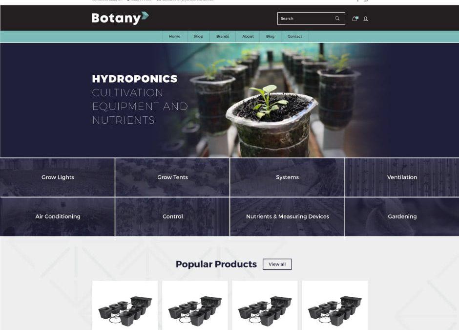 Botany Hydroponics Website