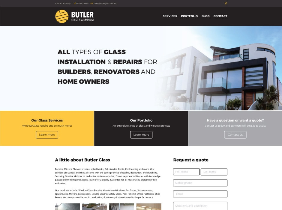 Butler Glass and Aluminium