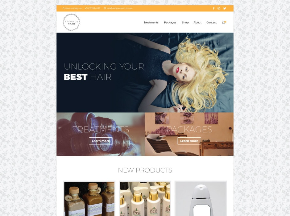 Radiance Hair Website