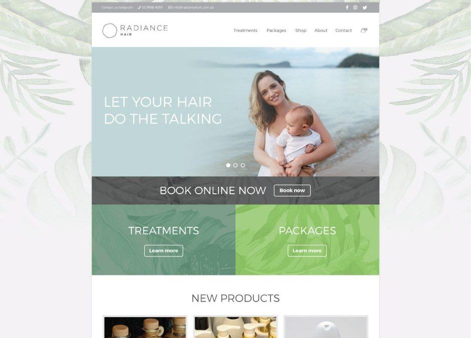 Radiance Hair Website