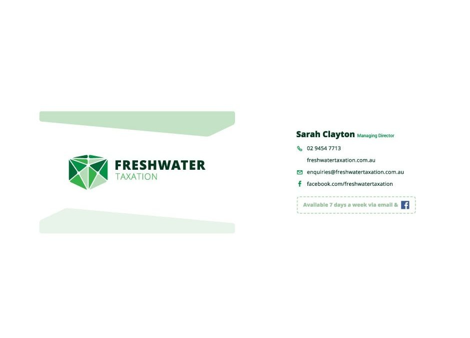 Freshwater Taxation Business Card