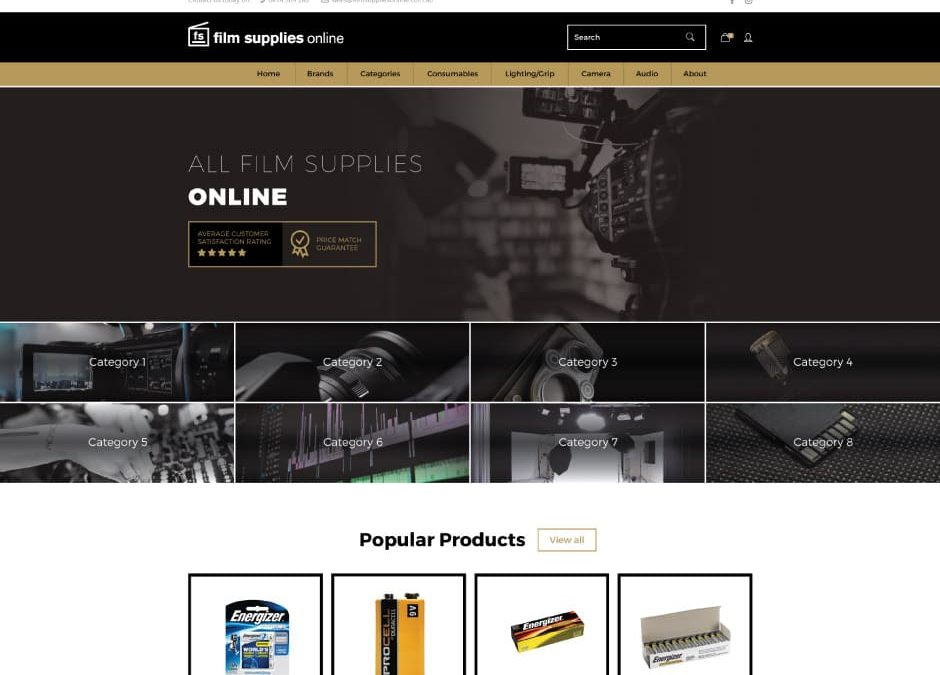 Film Supplies Online Website