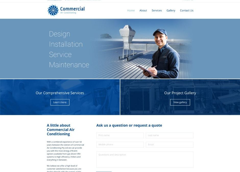 Commercial Air Conditioning Website