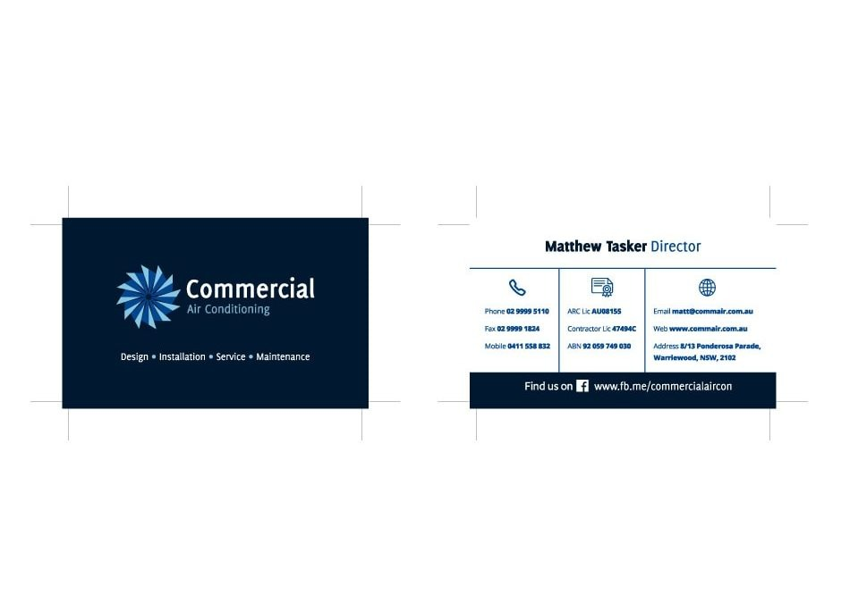 Commercial Air Conditioning Business Card