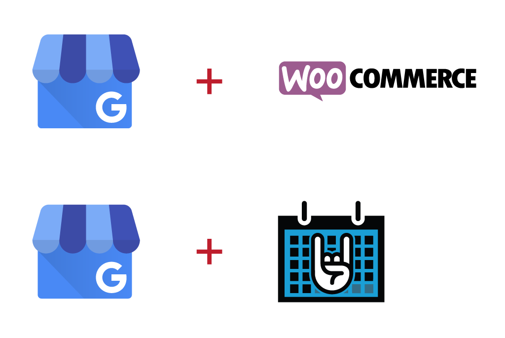Google My Business to WooCommerce and The Events Calendar