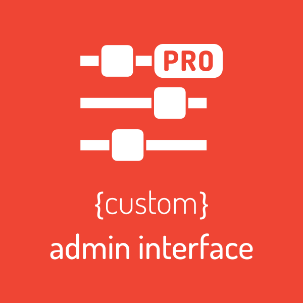 custom admin interface pro